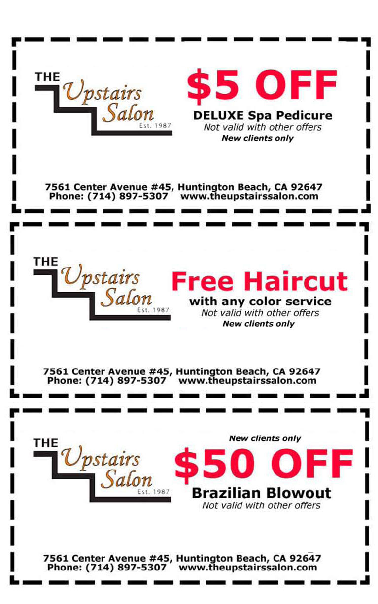 Huntington Beach Hair Salon Coupons Specials The Upstairs Salon